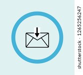 mail upload icon symbol.... | Shutterstock .eps vector #1265256247