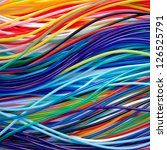 bright colored wires building... | Shutterstock . vector #126525791