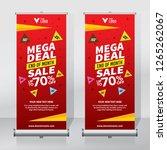 roll up banner design template  ... | Shutterstock .eps vector #1265262067