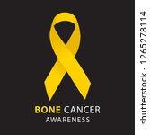 yellow ribbon. bone cancer... | Shutterstock .eps vector #1265278114