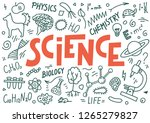 science doodles with lettering  ...   Shutterstock .eps vector #1265279827