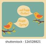 retro style design for easter... | Shutterstock .eps vector #126528821