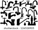 faucet set   Shutterstock .eps vector #126528905