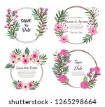 setof beautiful flowers and... | Shutterstock .eps vector #1265298664