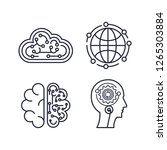 artificial intelligence set... | Shutterstock .eps vector #1265303884