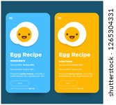 egg recipe app design