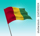 waving guinea flag. vector... | Shutterstock .eps vector #1265305024