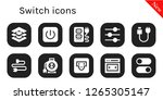 switch icon set. 10 filled... | Shutterstock .eps vector #1265305147