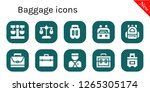 baggage icon set. 10 filled... | Shutterstock .eps vector #1265305174
