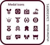 medal icon set. 16 filled...   Shutterstock .eps vector #1265308591