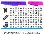 traditional icon set. 120... | Shutterstock .eps vector #1265312167