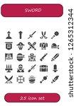 sword icon set. 25 filled... | Shutterstock .eps vector #1265312344