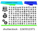 currency icon set. 120 filled... | Shutterstock .eps vector #1265312371