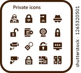 private icon set. 16 filled... | Shutterstock .eps vector #1265320501