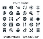 part icon set. 30 filled part... | Shutterstock .eps vector #1265320534
