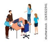 business people in the desk... | Shutterstock .eps vector #1265322541