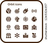 orbit icon set. 16 filled... | Shutterstock .eps vector #1265326357