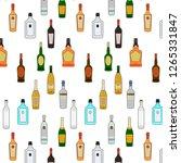 seamless pattern bar alcohol... | Shutterstock .eps vector #1265331847