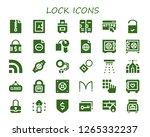 lock icon set. 30 filled lock... | Shutterstock .eps vector #1265332237