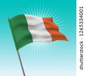 waving ireland flag. vector... | Shutterstock .eps vector #1265334001