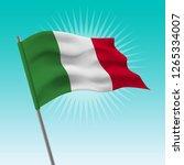 waving italian flag. vector... | Shutterstock .eps vector #1265334007
