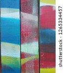 three paint arts | Shutterstock . vector #1265334457