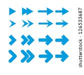 a set of blue arrows on a white ... | Shutterstock .eps vector #126533687