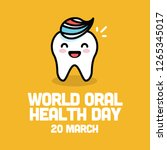 world oral health day 20 march | Shutterstock .eps vector #1265345017
