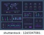 intelligent infographic... | Shutterstock .eps vector #1265347081