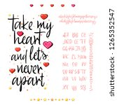 take my heart and let's never... | Shutterstock .eps vector #1265352547