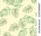 tropical seamless watercolour...   Shutterstock . vector #1265368687