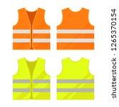 orange  yellow reflective... | Shutterstock .eps vector #1265370154
