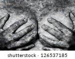 sweaty upper part of female... | Shutterstock . vector #126537185