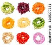 set of various vegetable... | Shutterstock . vector #1265377351