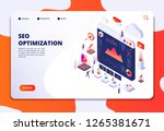 seo optimization. ecommerce ... | Shutterstock .eps vector #1265381671