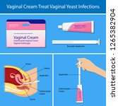 vaginal yeast infections... | Shutterstock .eps vector #1265382904
