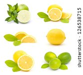 collection of fresh limes and... | Shutterstock . vector #126538715