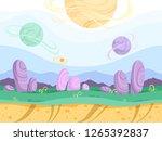 alien seamless background. moon ...