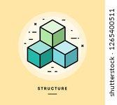 structure  flat design thin...   Shutterstock .eps vector #1265400511