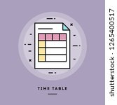 time table  flat design thin... | Shutterstock .eps vector #1265400517