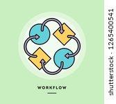 workflow  flat design thin line ...   Shutterstock .eps vector #1265400541