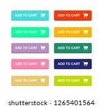 set add to cart colorful... | Shutterstock .eps vector #1265401564