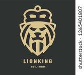 lion head logo template   Shutterstock .eps vector #1265401807