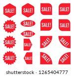sale sticker set. red promotion ... | Shutterstock .eps vector #1265404777