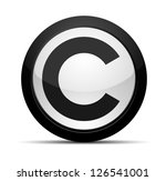 copyright button | Shutterstock .eps vector #126541001