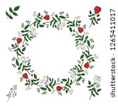 a wreath of red and white roses ... | Shutterstock .eps vector #1265411017
