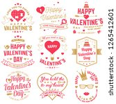 set of happy valentines day... | Shutterstock .eps vector #1265412601
