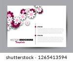 flyer  brochure  billboard... | Shutterstock .eps vector #1265413594