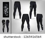 visual drawing of model pants... | Shutterstock .eps vector #1265416564