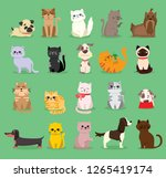 vector illustration set of cute ... | Shutterstock .eps vector #1265419174